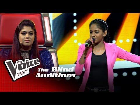 Dahami Anuththara   Dangakara Heene  (ඳඟකාර හීනේ)   Blind Auditions  The Voice Teens Sri Lanka