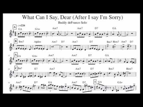 Buddy DeFranco - What Can I Say Dear (transcription)