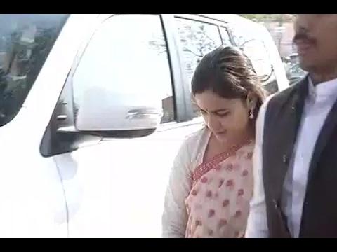 Lucknow: Aparna Yadav and Prateek Yadav meet CM Yogi Adityanath