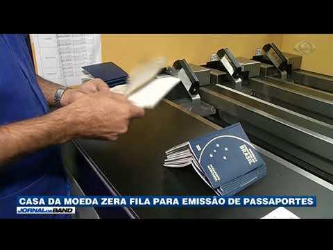 Casa Da Moeda Zera Fila Para Emissão De Passaportes