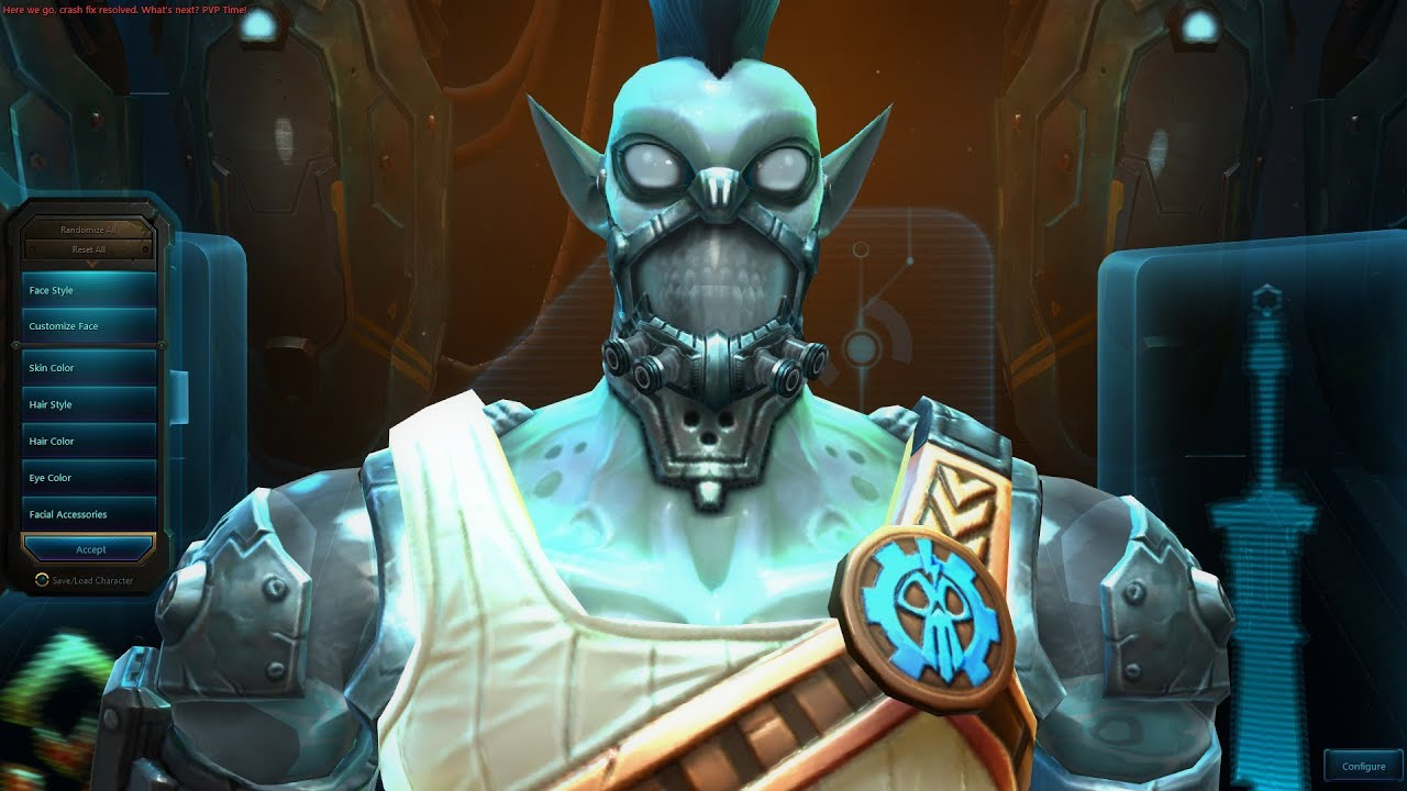 Wildstar Mordesh Male Character Creation - YouTube