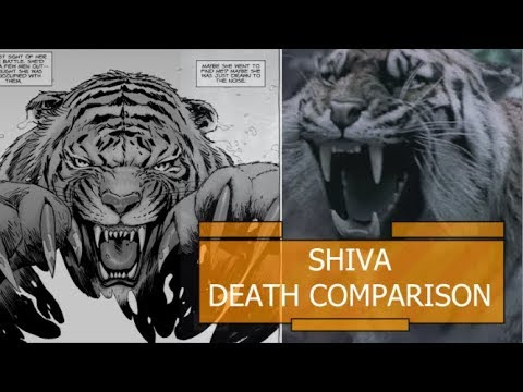 Shiva Death Comparison - The Walking Dead TV Show VS Comic (Season 8 Episode 4)