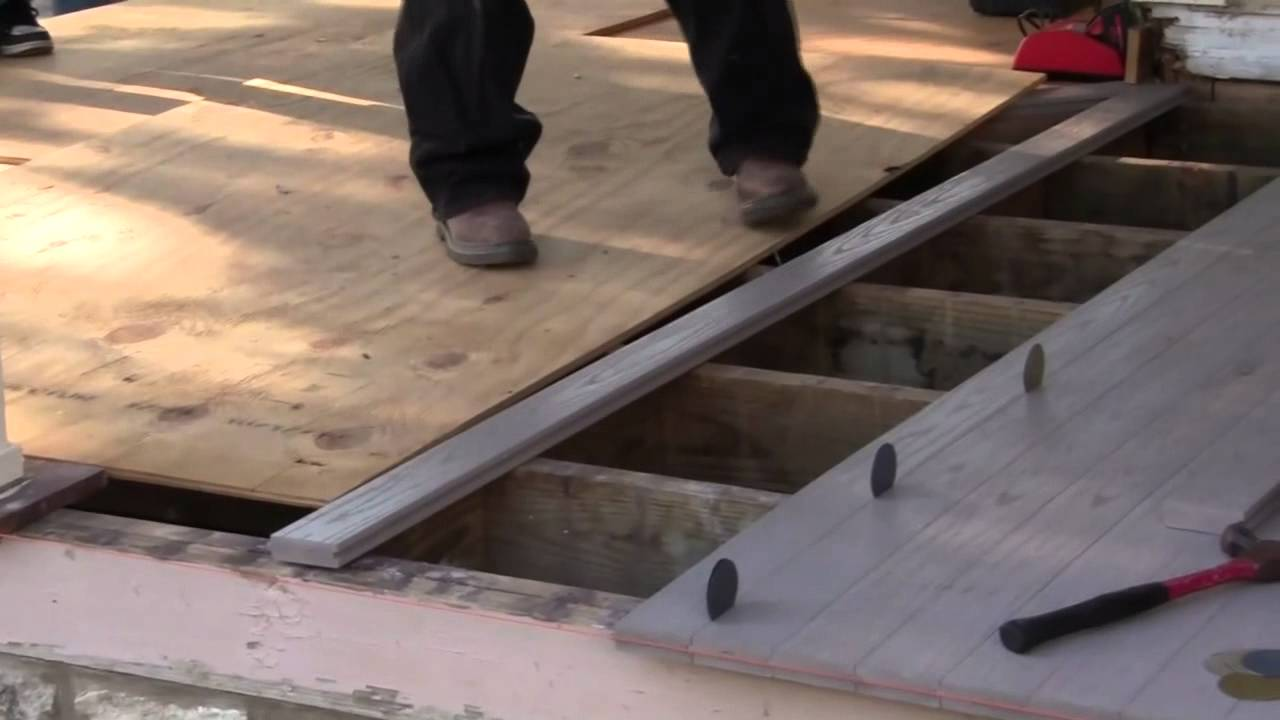 How To Install Porch Floors Video 4 Youtube