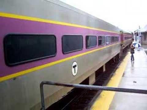 MBTA Coming Into Stoughton Station MA
