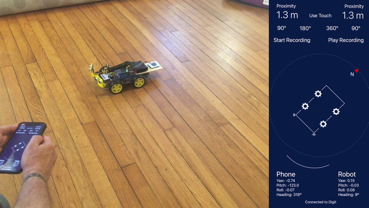 Driving a Raspberry Pi-based robot vehicle using motion control