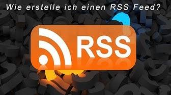 Wie erstelle ich einen RSS Feed?   RSS Feed   DavidsProTv