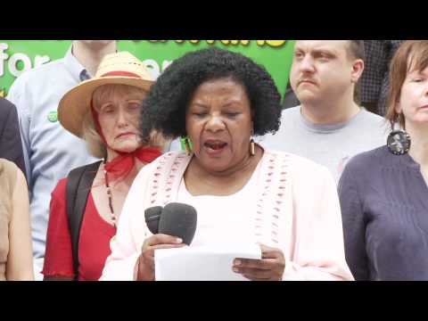 Colia Clark - Green Party NY US Senate Press Conference