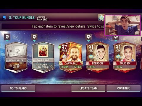 FIFA Mobile *CRAZY* Global Tour Pack Opening!!! 3 TOURIST PLAYERS IN 1 PACK!! 97 OVR! | FIFA Mobile