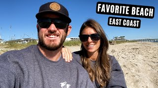 We Try MOONSH NE And Find Our Favorite BEACH Towns  N North Carolina - Van Life Ep - 18