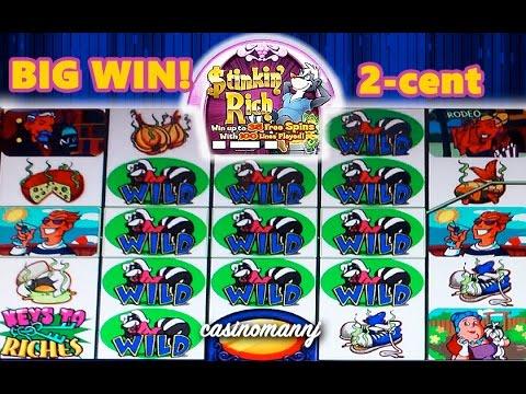 2-cent STINKIN' RICH SLOT - BIG WIN!!! - Slot Machine Bonus