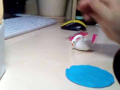 Как слепить лебедя из пластилина поэтапно
