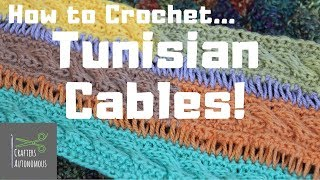 How to Tunisian Crochet Cables | Clear Tutorial! | TuTu Ep 55
