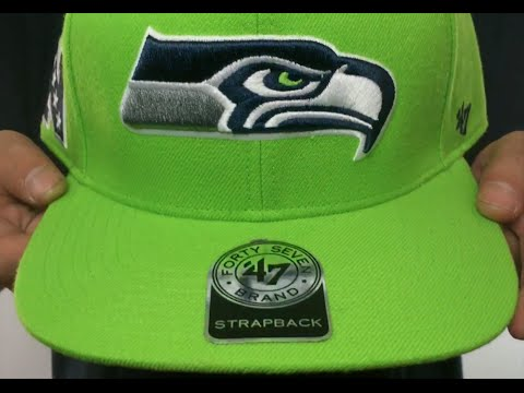 ebbcb6f8d Seahawks  SUPER-SHOT STRAPBACK  Lime Hat by Twins 47 Brand - YouTube