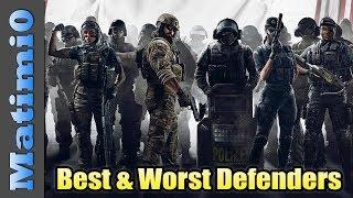Best & Worst Defenders - Rainbow Six Siege - Year 2