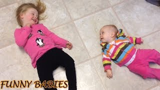 Funny and Fails Baby Siblings Playing Together #1