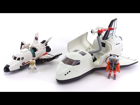 LEGO vs. Playmobil! Space Shuttles compared