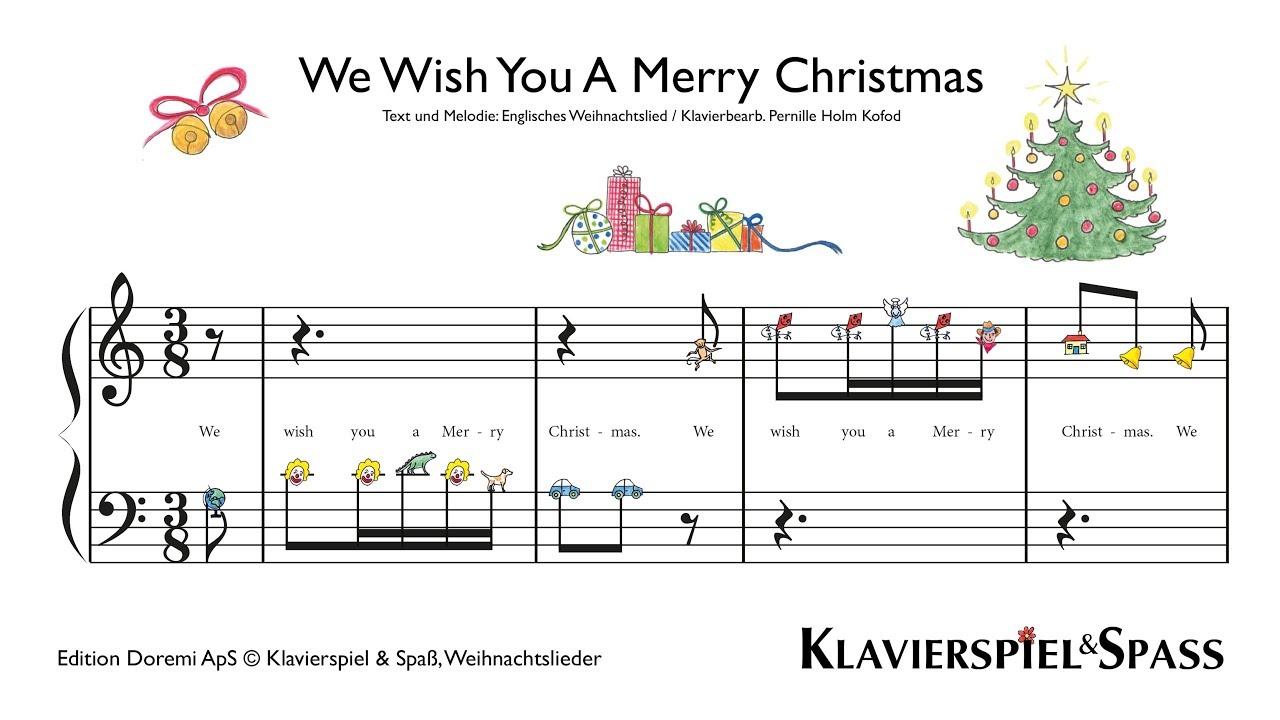 Noten Weihnachtslieder Klavier.We Wish You A Merry Christmas Weihnachtslieder Klavier