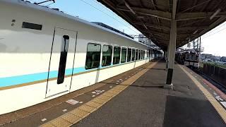 近鉄電車名古屋線「伊勢若松駅」E29L29(しまかぜ通過!)