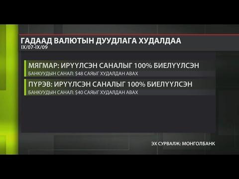 Монголбанк: Дуудлага худалдаагаар 88 сая ам.долларыг валютын захад нийлүүлсэн