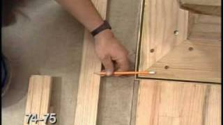 Hardwood Floor Racking, Nailing, Cutting and Fitting -