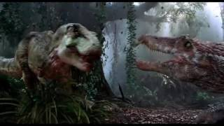 Rex and Spino fight resound HD