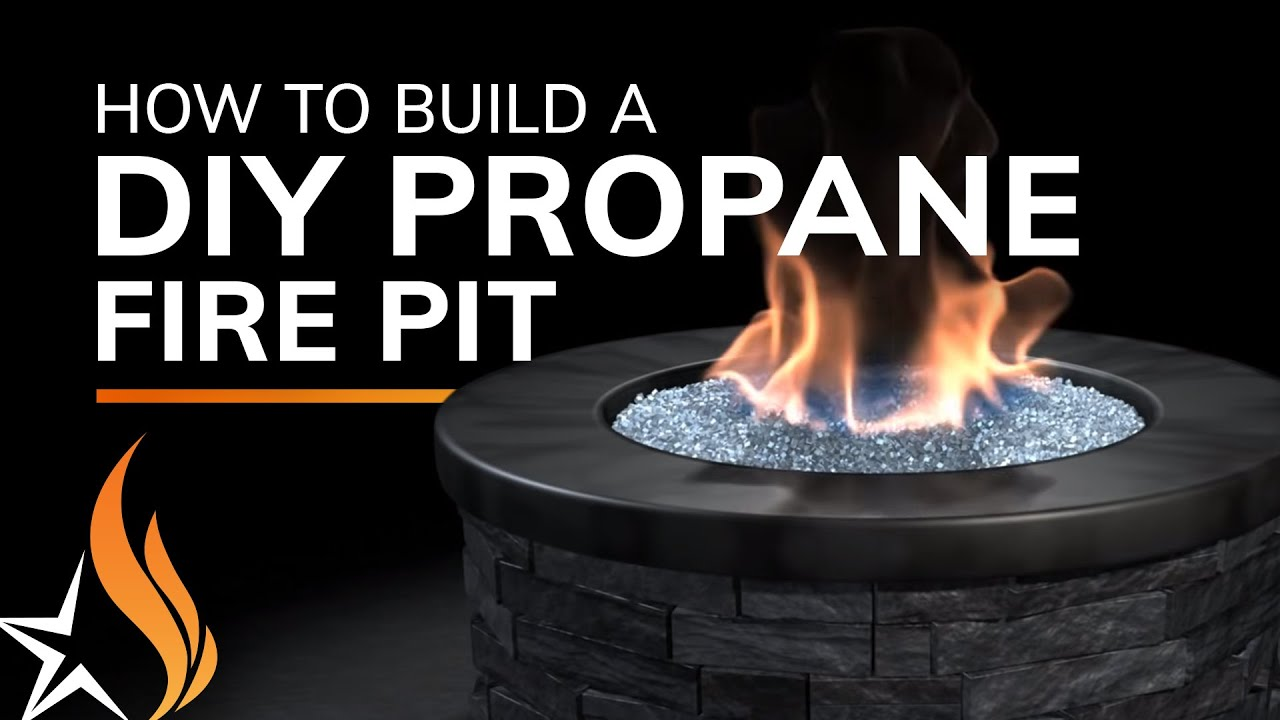 Propane Fireplace Installation How To Build A Fire Pit With Propane Gas