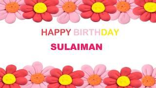Sulaiman   Birthday Postcards & Postales - Happy Birthday
