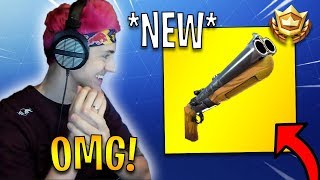Streamers First Time Using *NEW* Double Barrel Shotgun! | Fortnite Highlights & Funny Moments