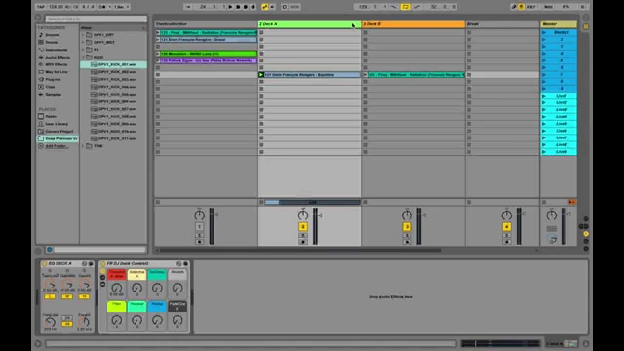 ableton dj template How to DJ with Ableton Live Warping and Effects Simple DJ Template ...