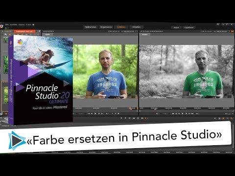 Farbe ersetzen mit Farbtönung und Sättigung in Pinnacle Studio 20 Deutsch Video Tutorial