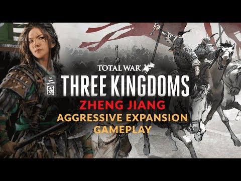 TOTAL WAR: THREE KINGDOMS    ZHENG JIANG CAMPAIGN & BATTLE GAMEPLAY - Aggressive Expansion Start