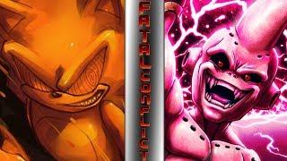 FLEETWAY SUPER SONIC Vs KID BUU Sonic Vs Dragon Ball Super FATAL CONFLICT