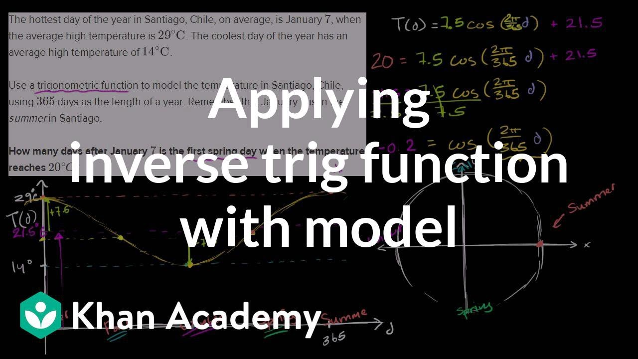 medium resolution of Trig word problem: solving for temperature (video)   Khan Academy