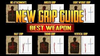 PLAYERUNKNOWN'S BATTLEGROUNDS GRIP GUIDE! BEST GUN POST PATCH! TrainingGrounds 14! PUBG LIVE!