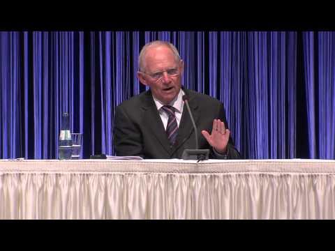 Rede von Bundesfinanzminister Dr. Wolfgang Schäuble