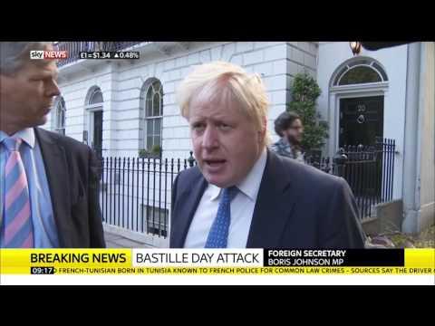 Foreign Secretary Boris Johnson On Nice