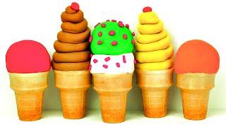 Play-Doh Ice Cream Cone Surprise Eggs Mickey Mouse Peppa Pig Sesame Street Disney Princess FluffyJet