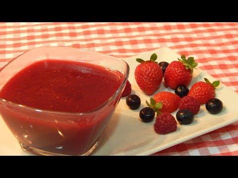 Cómo hacer salsa dulce de frutos rojos (coulis)