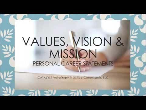 Values Vision Mission Personal Career Statements