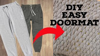How to make Door mat From Tshirt | Best out of Waste | DIY Doormats | Old Cloths Reuse Idea
