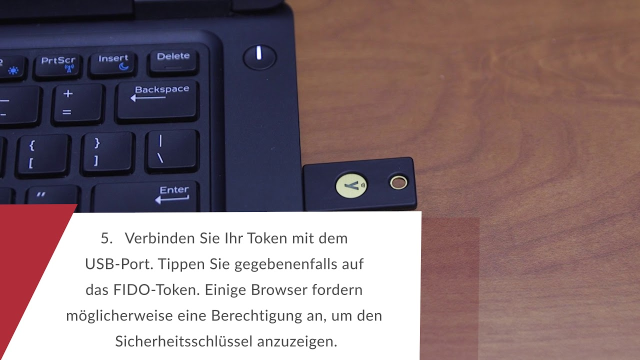 Using RSA SecurID Access My Page to Register a FIDO Token (German)