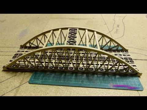 Building a laser cut kit – The LX057-OO Bowstring Bridge***