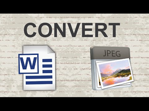 Convert Word Doc To JPEG - 2 Methods