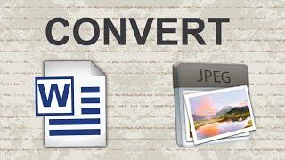 Convert Word Doc to JPEG - 2 Methods