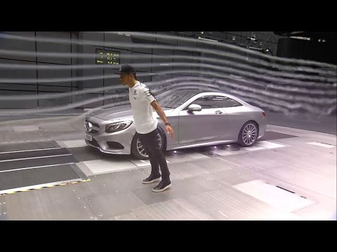 Lewis Hamilton visit in the Mercedes wind tunnel and in the driving simulator