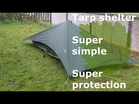 Tarp shelter how to: simple solo bomber protection