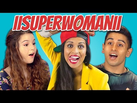 TEENS REACT TO IISUPERWOMANII