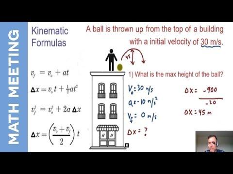 Kinematics - falling object example