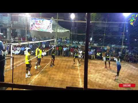 Proffessional volleyball tournament held in chathannoor KERALA POLICE VS PALA COLLEGE