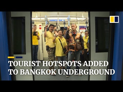 Bangkok's new underground train extension connects tourist sites in the Thai capital